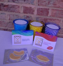 Spa Splurge Gold Collagen Under Eye Masks & Lip Masks Gift Set