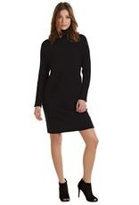 Mudpie Marissa Turtleneck Sweater Dress in Black