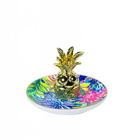 Lilly Pulitzer Traveler's Palm Ring Holder (Pineapple)