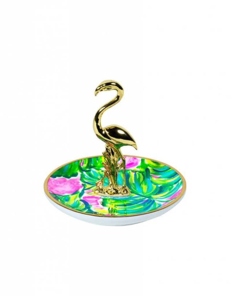 Lilly Pulitzer Painted Palm Ring Holder (Flamingo)