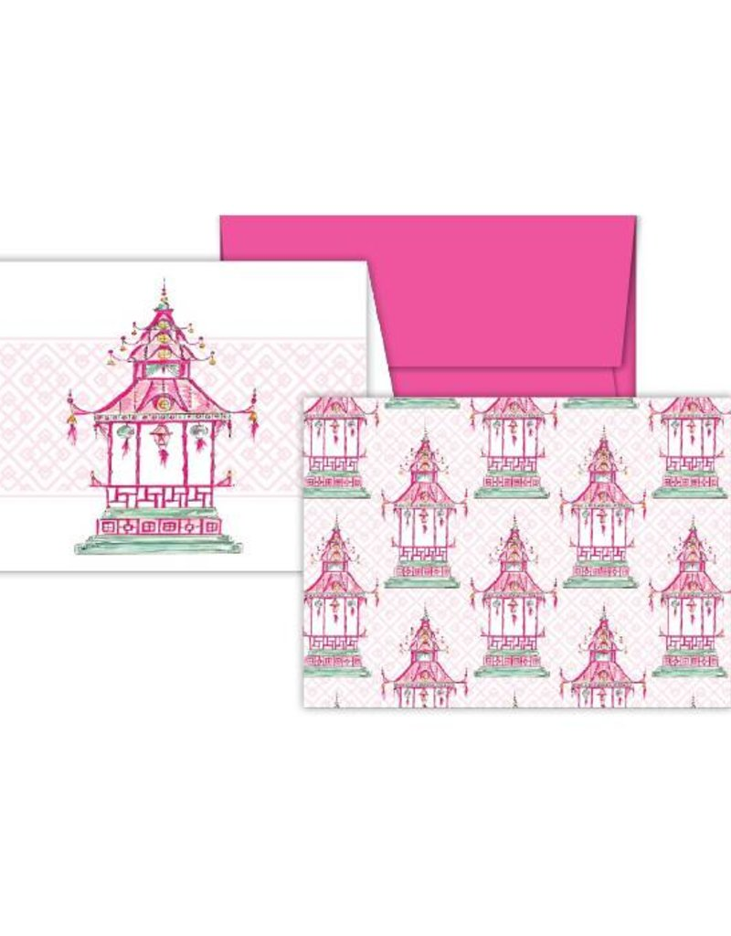 Rosanne Beck Collection Petite Notecard Combo - Pink Pagoda
