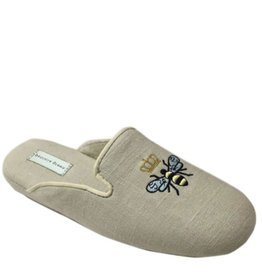 Patricia Green Queen Bee Linen Slippers