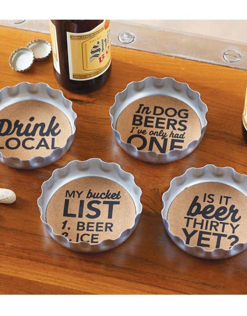 Mudpie Beer Bottle Coaster Set