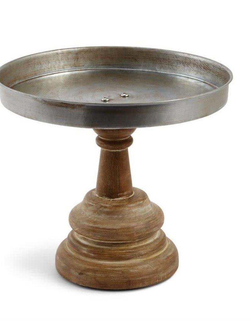 Mudpie Wood & Metal Pedestal Stand