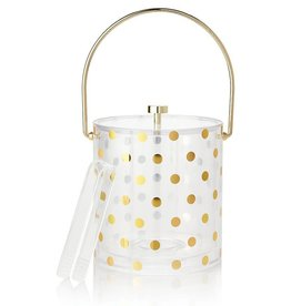 Kate Spade NY Raise A Glass Gold Dot Acrylic Ice Bucket