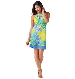 Mudpie Natalie Bow Tie Dress in Blue Palm