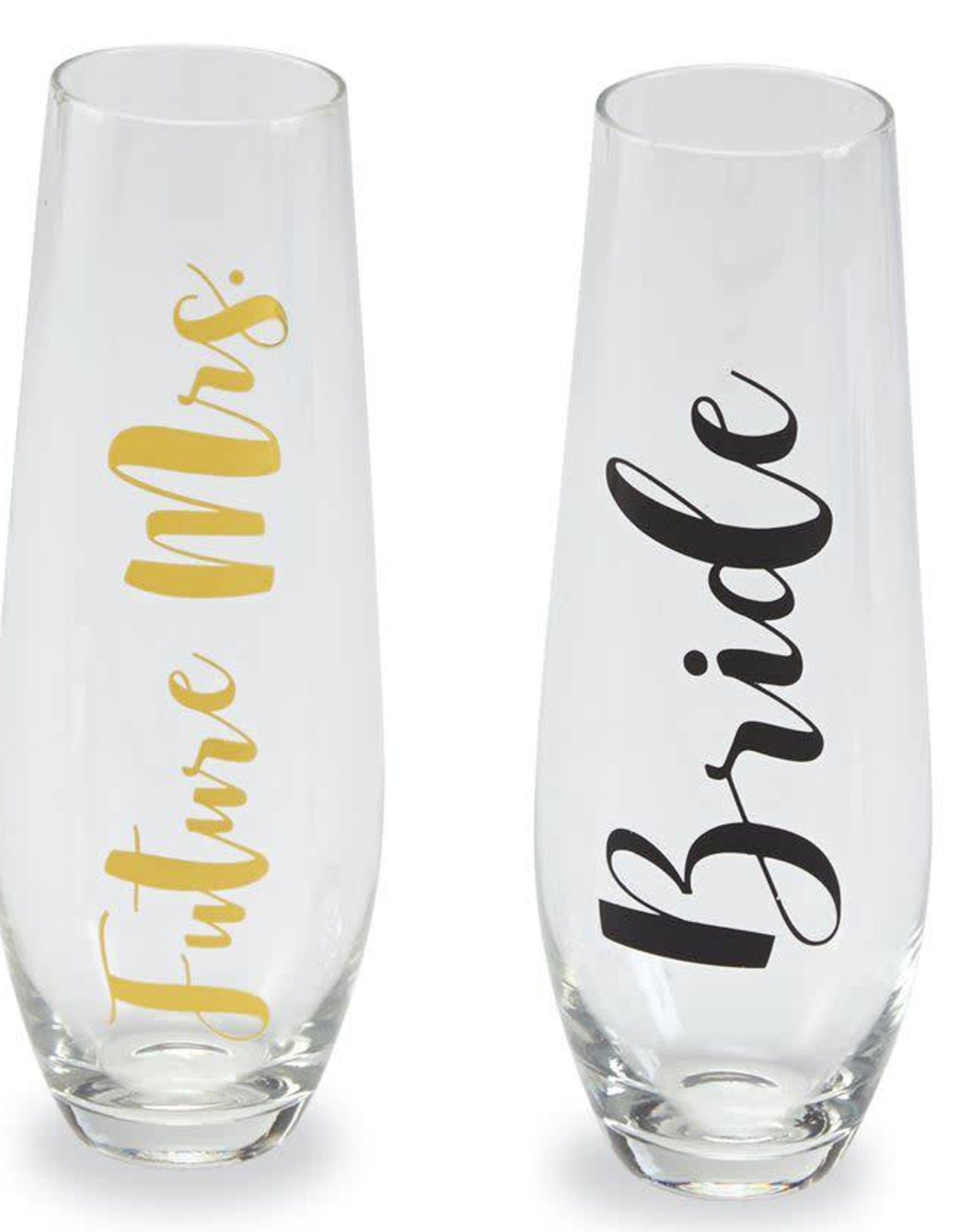 Mudpie Bride Stemless Champagne Glass