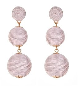Fornash Wellington Triple Ball Earrings in Blush