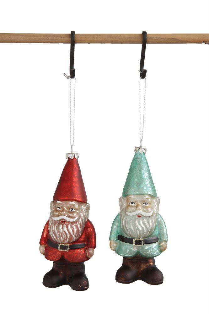 Glass Gnome Ornament