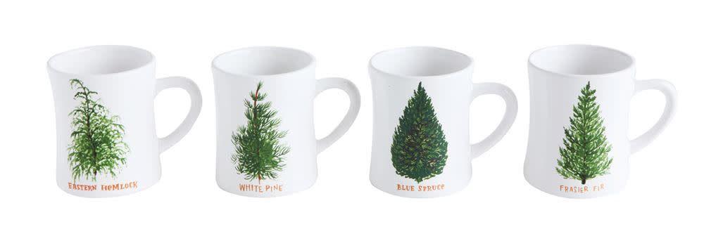 Ceramic Mug with Winter Tree