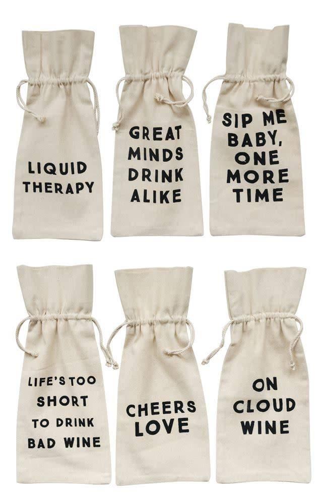 Classic Cotton Wine Bags