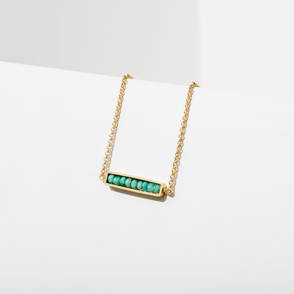 Abacus Necklace in Amazonite