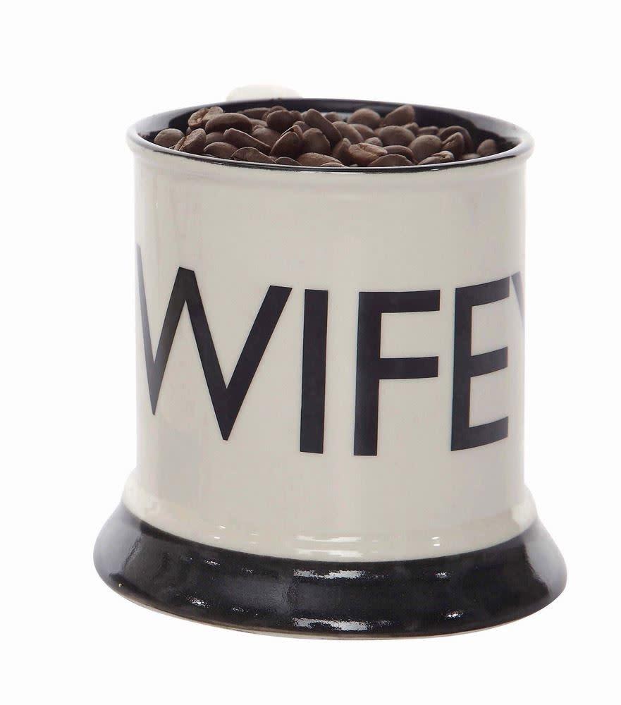 "Stoneware Mug, ""Wifey"""
