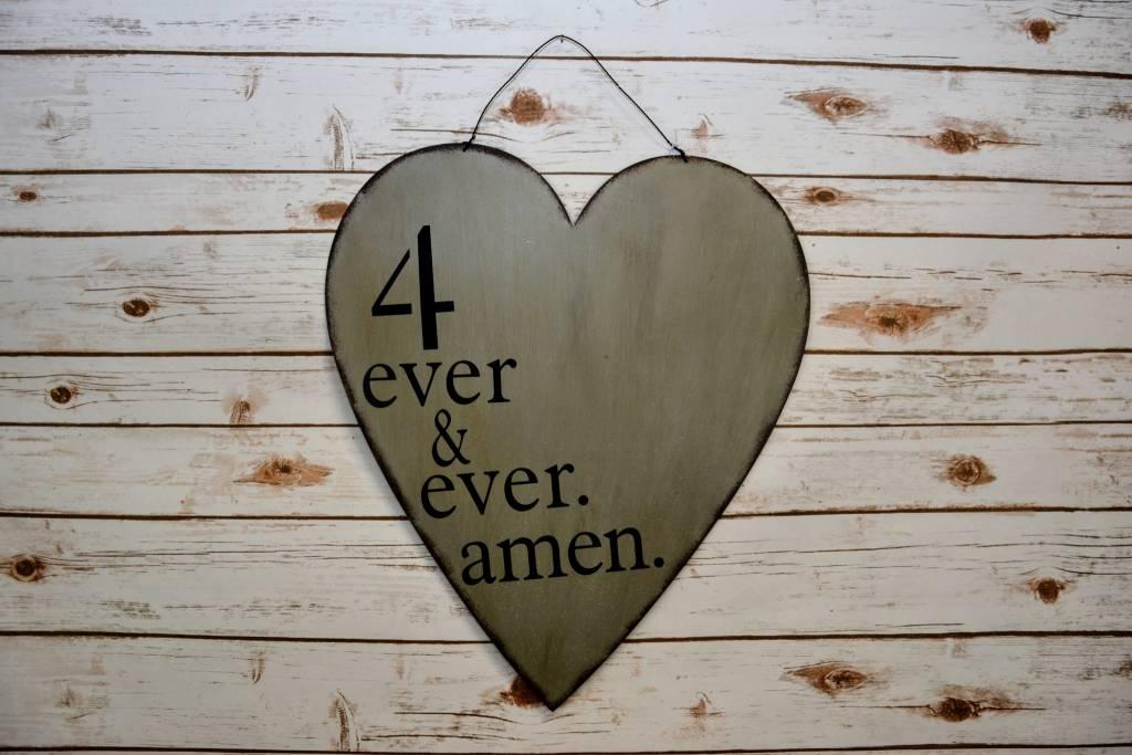 """""""4 Ever & Ever Amen"""" Heart"""