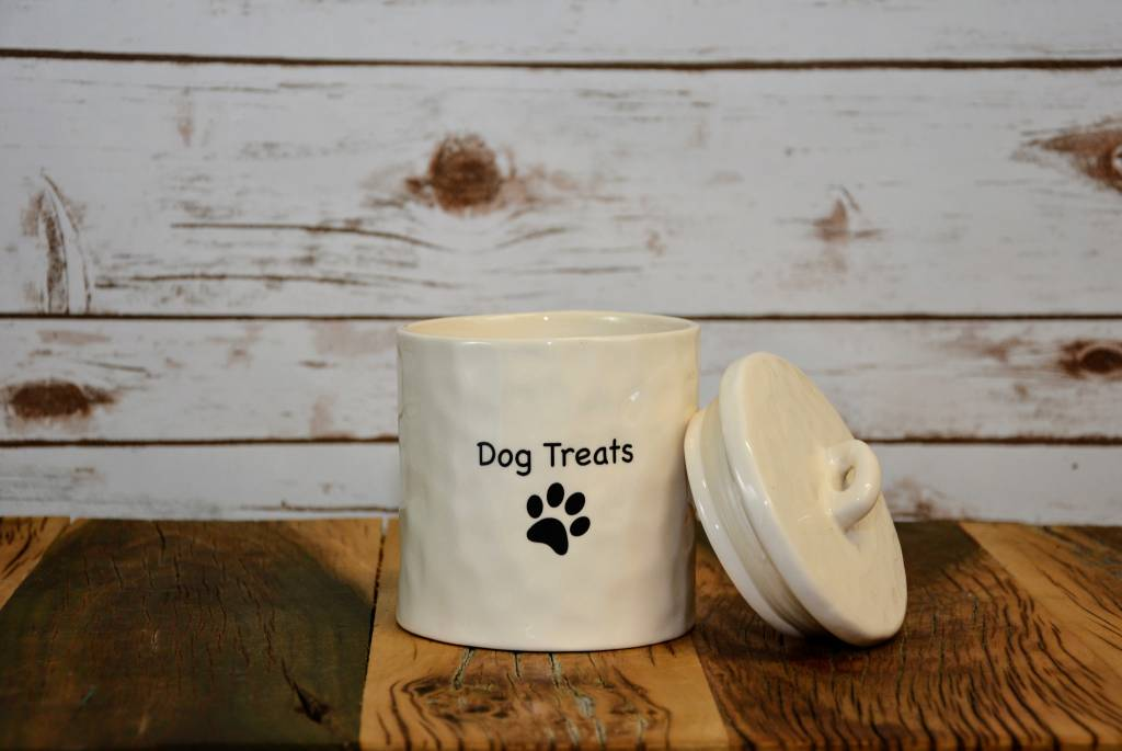 Dog Treats Stoneware Jar