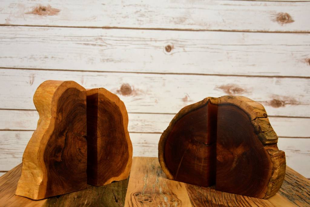 Wood Slice Bookends