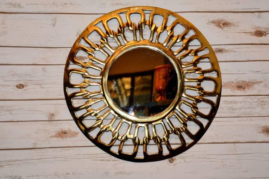 Gold Electroplate Framed Mirror