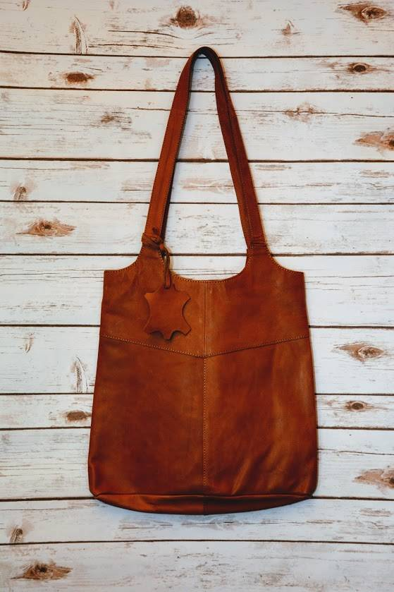 Leather Hobo Tote