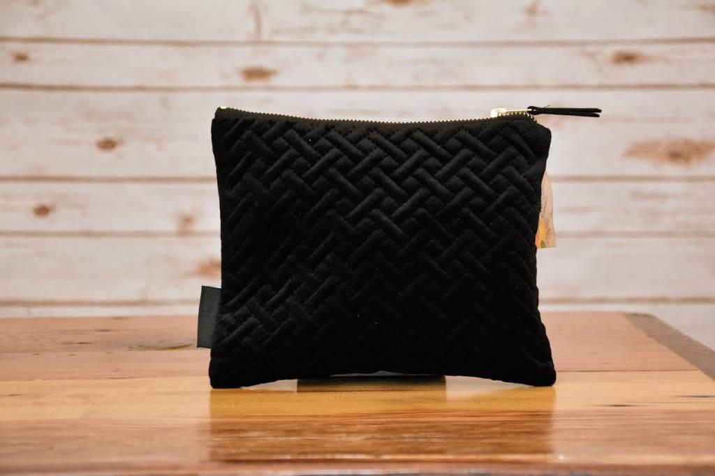 Velvet Zip Pouch, Large