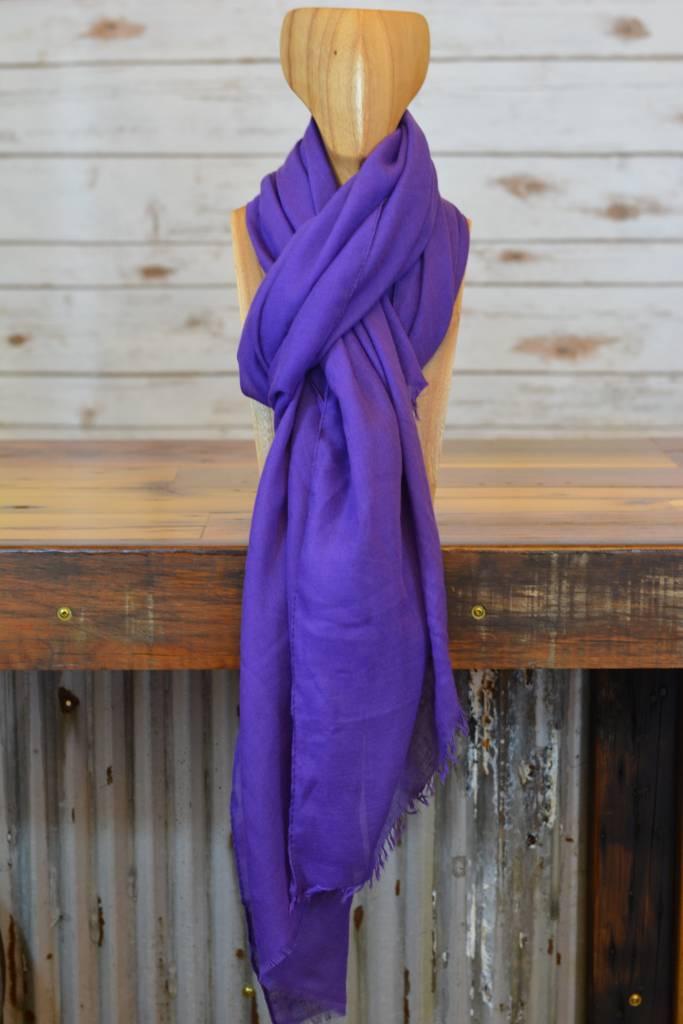 Ultra Violet Fringed Scarf