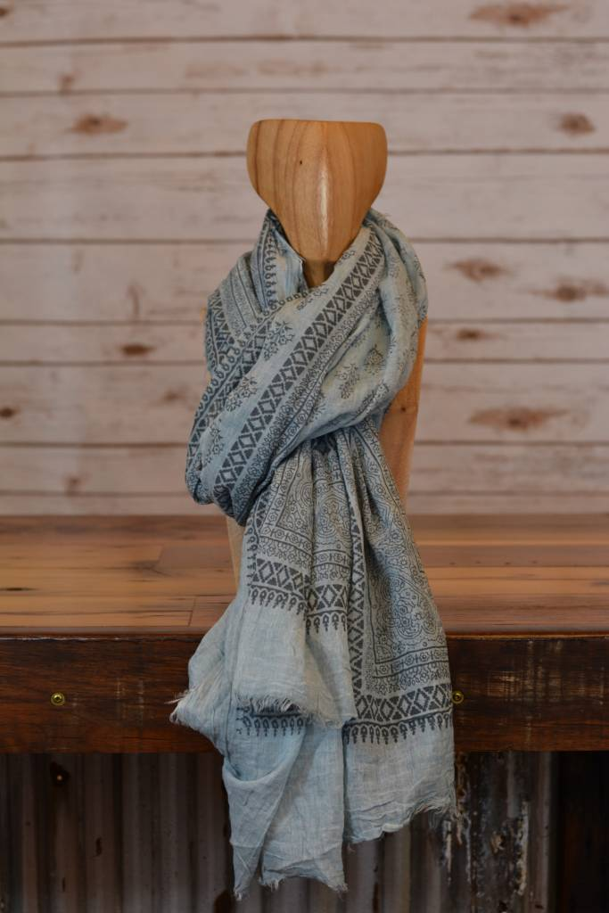 Leila Sky Cotton Scarf