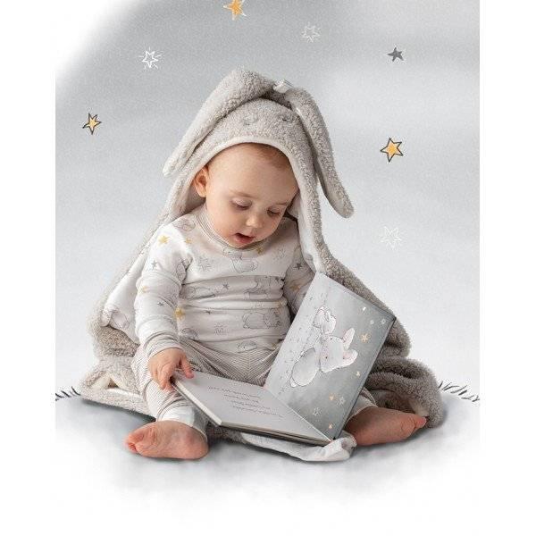 Bunny Hooded Blanket- Grey
