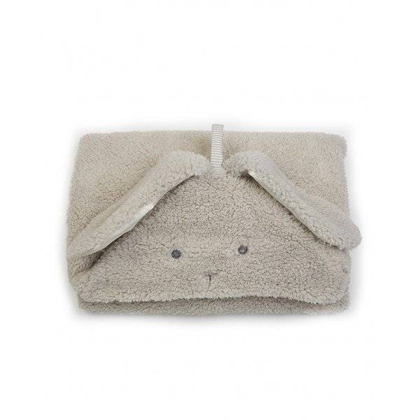 Bunny Hooded Blanket- Grey