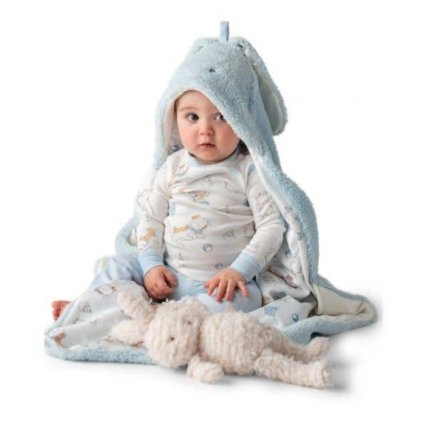 Bunny Hooded Blanket - Blue