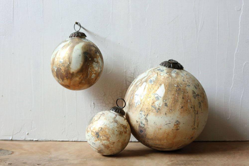Cream & Copper Ornament