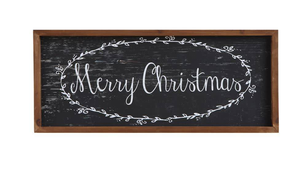 "Wood Framed Wall Decor, ""Merry Christmas"""