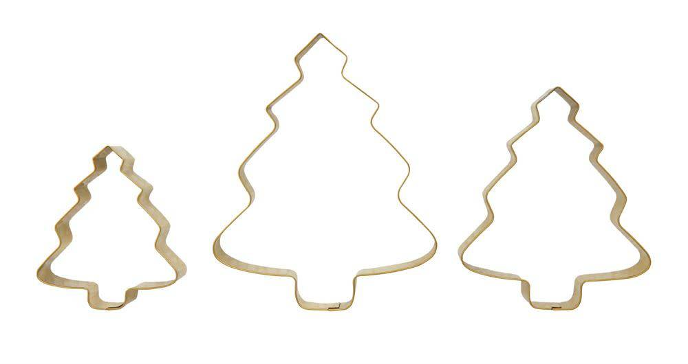 Stainless Steel Cookie Cutters, Gold Finish