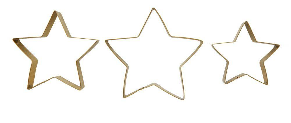 Stainless Steel Gold Star Cookie Cutters