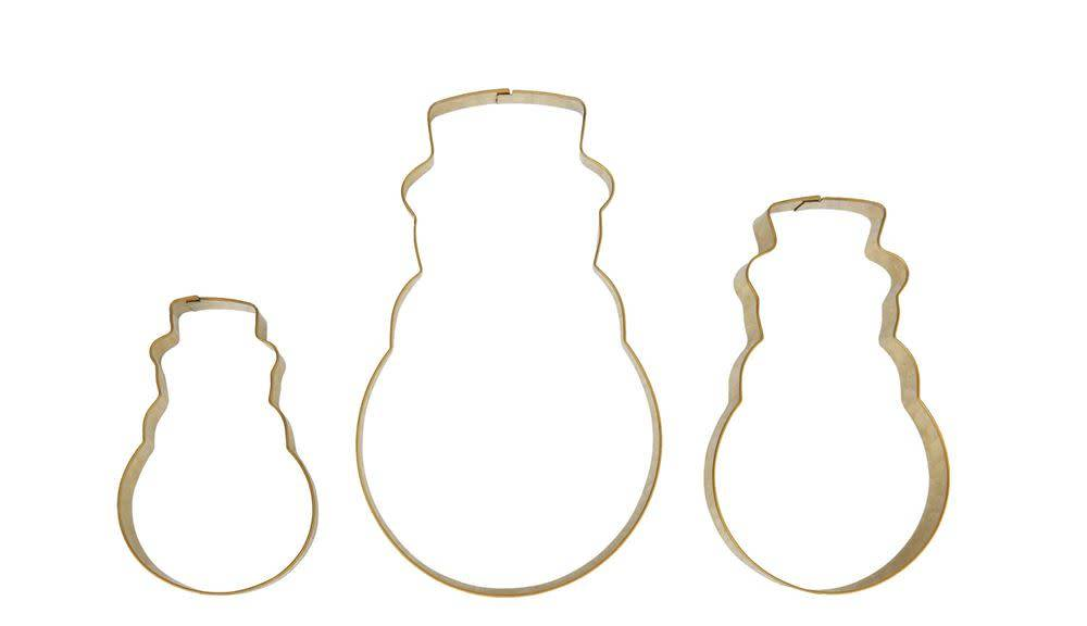 Stainless Steel Gold Snowman Cookie Cutters