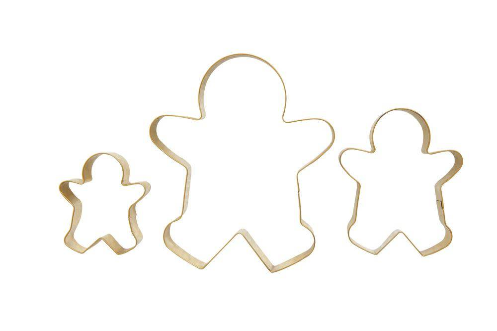 Stainless Steel Gold Gingerbread Man Cookie Cutters