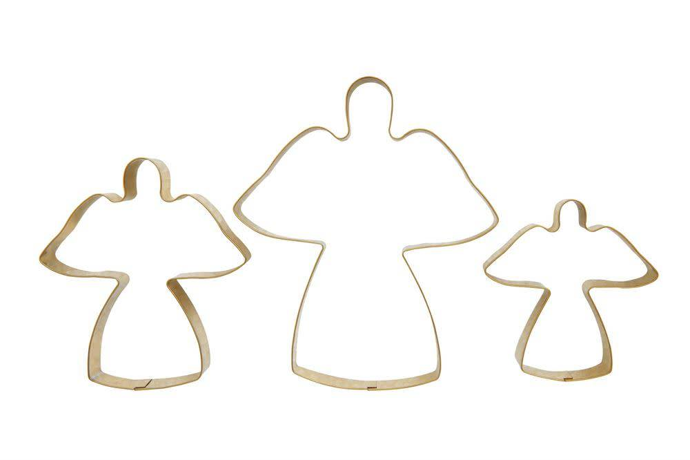 Stainless Steel Gold Angel Cookie Cutters