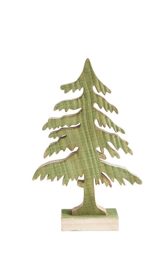 Medium Green Wood Christmas Tree