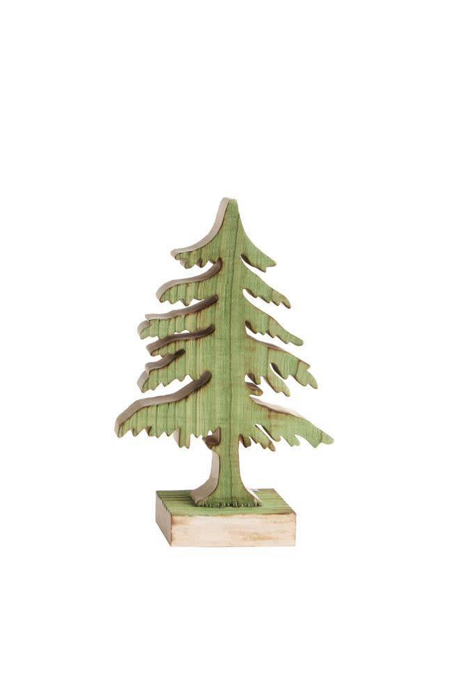Small Green Wood Christmas Tree