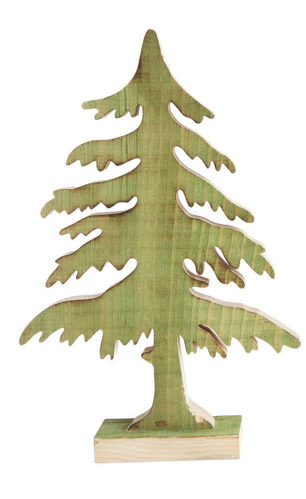 Large Green Wood Christmas Tree