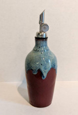 HATFIELD POTTERY CRUET - FIRECRACKER RED WITH BLUE