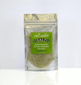 s.a.l.t. sisters GREEN BAMBOO KA'NANI HAWAIIAN SEA SALT-COARSE 4oz