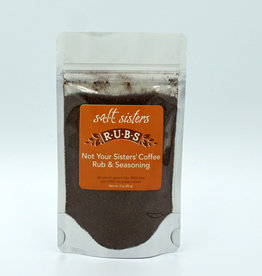 s.a.l.t. sisters NOT YOUR SISTERS' COFFEE RUB & SEASONING 3oz