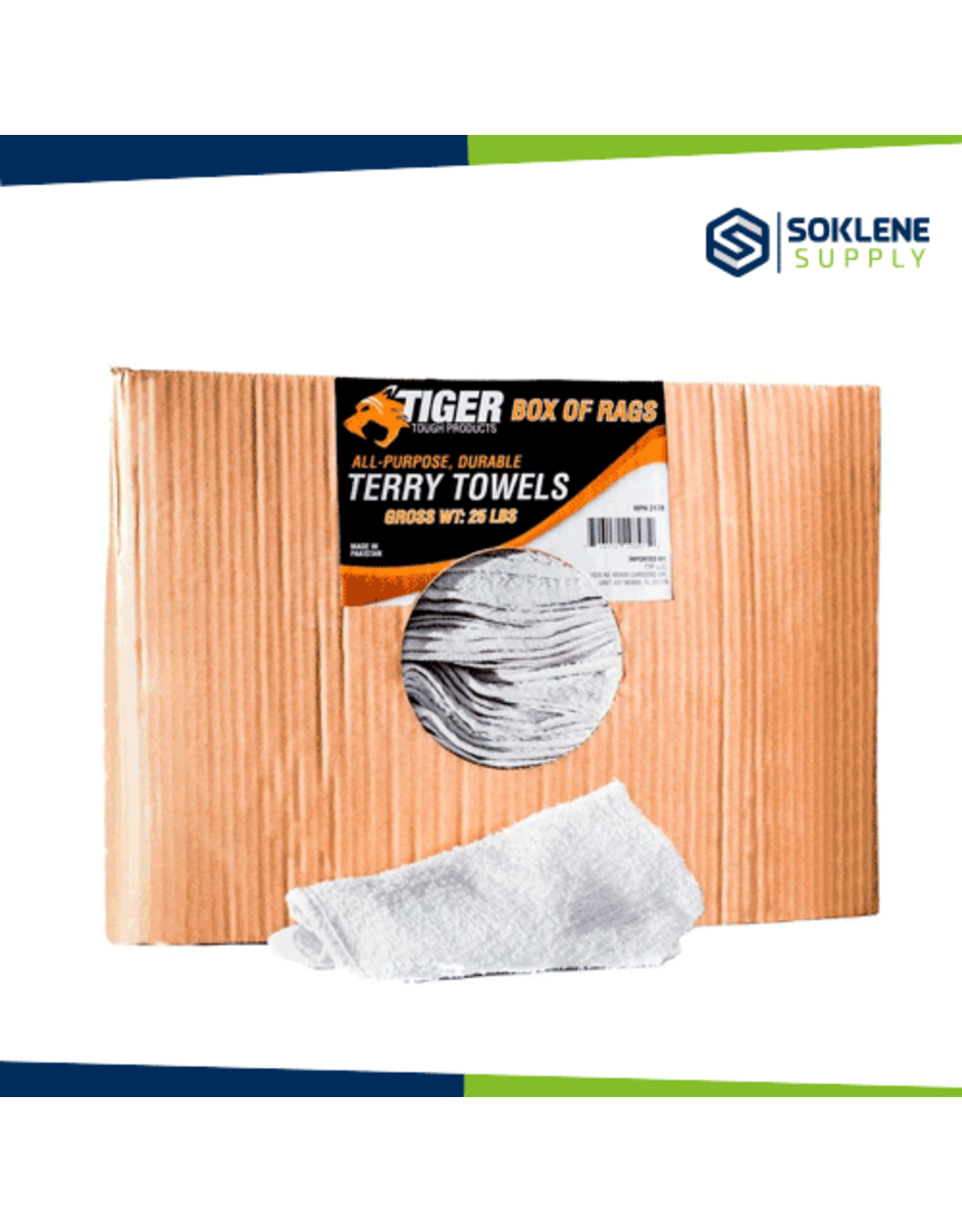 Tiger Tough Terry Towels (Box of 24)