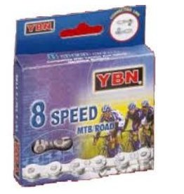YBN CHAIN 8 SPEED C/W QUICK LINK