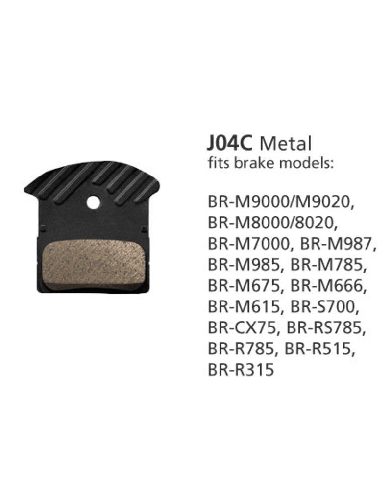 SHIMANO BRAKE PAD SAINT/ZEE/XT 4 POT METAL H03C