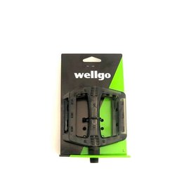 WELLGO TRANSLUCENT BLACK PEDAL 9/16""