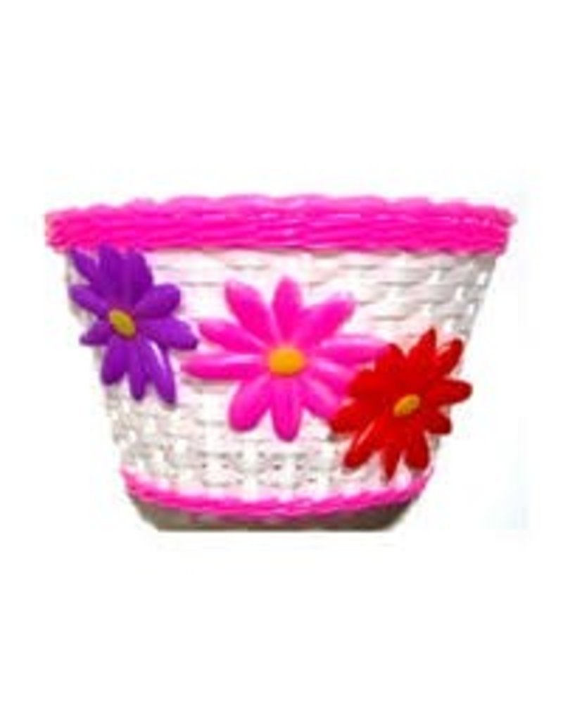 PINK BASKET WITH FLOWERS