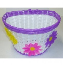 PURPLE BASKET WITH FLOWERS