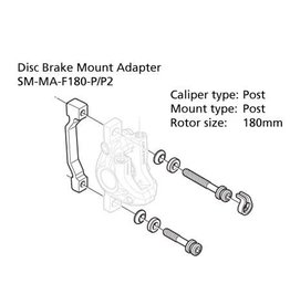 Shimano SHIMANO 180MM DISC BRAKE POST ADAPTOR