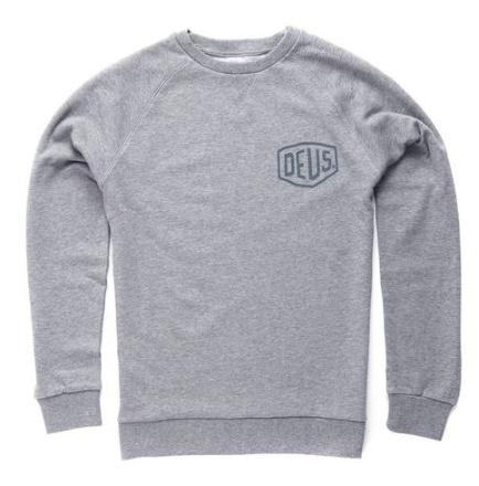 Deus Shield Crew Sweatshirt Grey