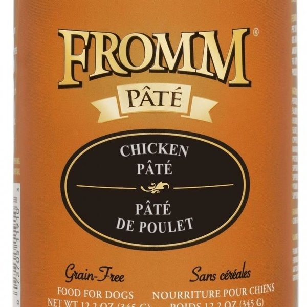 Fromm Fromm Chicken Pate Dog Cans 12 oz